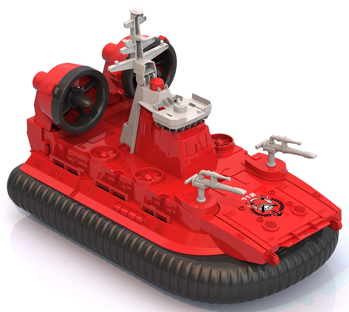 Машинка Нордпласт Катер-амфибия на воздушной подушке, 294/ красный цена