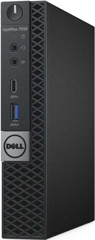 ПК Dell Optiplex 7050 Micro i7 7700T/8Gb/500Gb 7.2k/HDG630/LinUb/kb/m/черный системный блок dell optiplex 7050 micro 7050 8343 черный