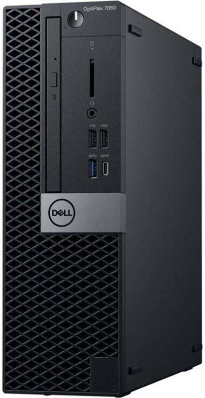 Системный блок Dell Optiplex 7060 SFF, 7060-6177, черный, серебристый системный блок dell optiplex 7060 мт 7060 6153 черный серебристый