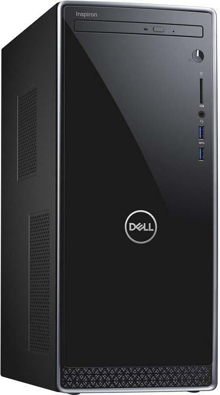 ПК Dell Inspiron 3670 MT i7 8700/8Gb/1Tb 7.2k/SSD128Gb/GTX1050Ti 4Gb/DVDRW/W10H/kb/m/черный dell vostro 3670 core i3 8100 4gb 1tb dvd kb m win10 pro 3670 6689