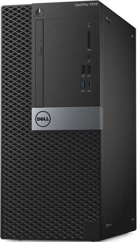 Системный блок Dell Optiplex 7050 MT, 7050-4846, черный, серебристый системный блок dell optiplex 7050 micro 7050 8343 черный