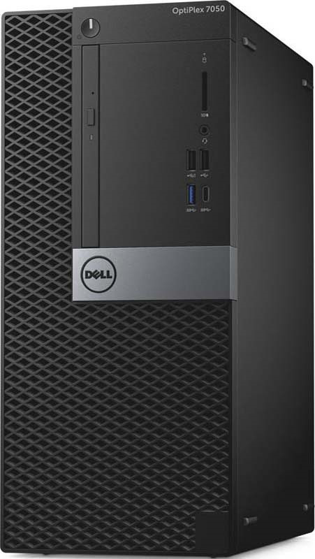 Системный блок Dell Optiplex 7050 MT, 7050-4860, черный, серебристый системный блок dell optiplex 7050 micro 7050 8343 черный