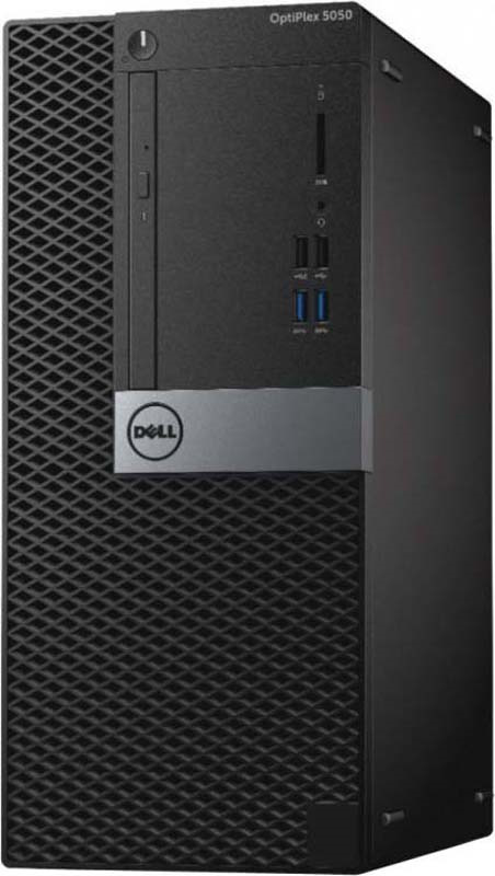 Системный блок Dell Optiplex 5050 MT, 5050-8299, черный, серебристый системный блок dell optiplex 7050 micro 7050 8343 черный