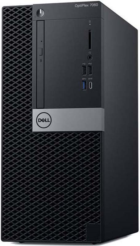 Системный блок Dell Optiplex 7060 MT, 7060-6146, черный, серебристый системный блок dell optiplex 7060 мт 7060 6153 черный серебристый