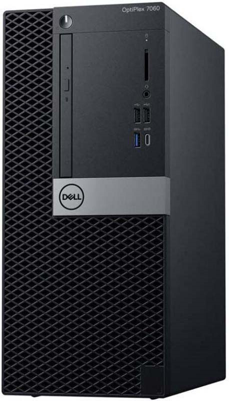 Системный блок Dell Optiplex 7060 MT, 7060-6122, черный, серебристый системный блок dell optiplex 7060 мт 7060 6153 черный серебристый