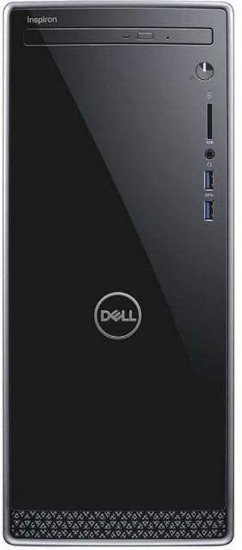 Системный блок Dell Inspiron 3670 MT, 3670-6597, черный пк alienware aurora r7 mt i5 8400 8gb 1tb 7 2k rx 570 4gb dvdrw w10hsl64 kb m черный