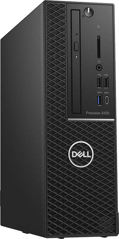 Системный блок Dell Precision 3430 SFF, 3430-5734, черный системный блок dell optiplex 3050 sff i3 6100 3 7ghz 4gb 500gb hd620 dvd rw linux клавиатура мышь черный 3050 0405