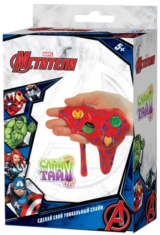 Набор для изготовления слайма 1TOY Слайм тайм Мстители, Т14301, синий набор для изготовления слайма 1toy слайм тайм человек паук т14293 красный