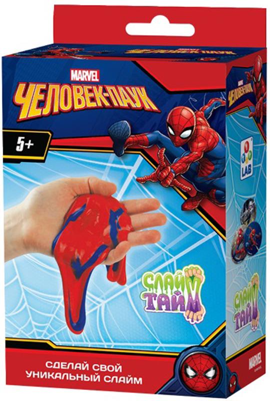 Набор для изготовления слайма 1TOY Слайм тайм Человек паук, Т14302, красный набор для изготовления слайма 1toy слайм тайм человек паук т14293 красный