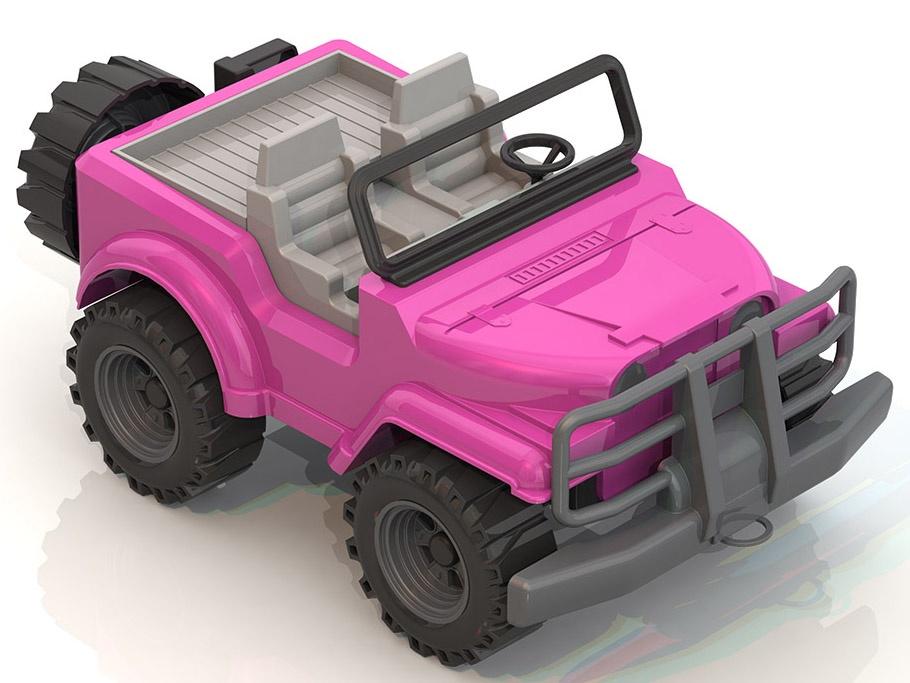 """Джип Нордпласт Фламинго, 224, розовый, белый, 16.5х19х32.5 см224/Машины для девочек пользуются всё большей популярностью. В ассортиментной линейке у нас есть интересный """"женский"""" транспорт: арт. 228 «Леди Джип», арт. 223 Джип """"Коралл"""", арт. 066/1 Самосвал """"Топаз"""", арт. 224 Джим """"Фламинго"""", арт. 431012/1 Авто""""Гоу! Розовое чудо!"""", арт. 431002/1 Толокар """"Квадроцикл"""", арт. 297 Кабриолет """"Нимфа"""". Больше рельефные колеса внедорожника и усиленный бампер обеспечивают проходимость в любой местности, а в кабине можно покатать своих любимых кукол. Джип станет прекрасным дополнением к автопарку юного атомобилиста, поможет развить мелкую моторику, воображение. Колечко на бампере позволяет катать машинку с собой за веревочку. Сзади у джипа есть запасное колесо и канистра с бензином на случай непредвиденных ситуаций. Выпускается в нескольких цветовых гаммах и трех типах кузова - открытый джип (арт. 225, 135, 224), сафари (арт. 226, 136, 235) и закрытый джип (арт. 227, 137, 237). *безопасный прочный пластик, четкая деталировка, яркие цвета, которые не потускнеют со временем, надежное крепление подвижных деталей, размер 32,5*19*16,5 см"""