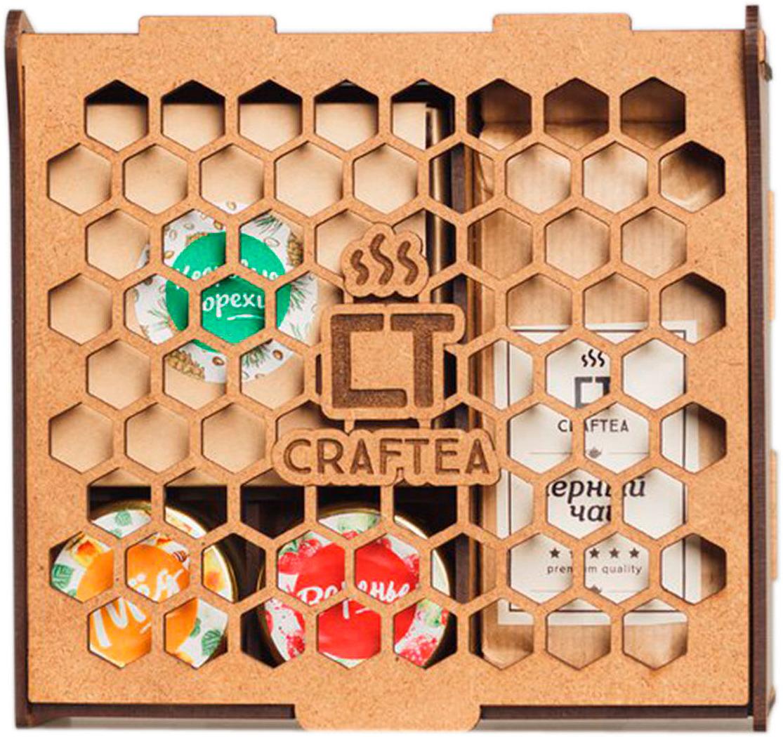Подарочный чайный набор CrafTea Honey&Jam, в деревянной шкатулке подарочный чайный набор craftea honey