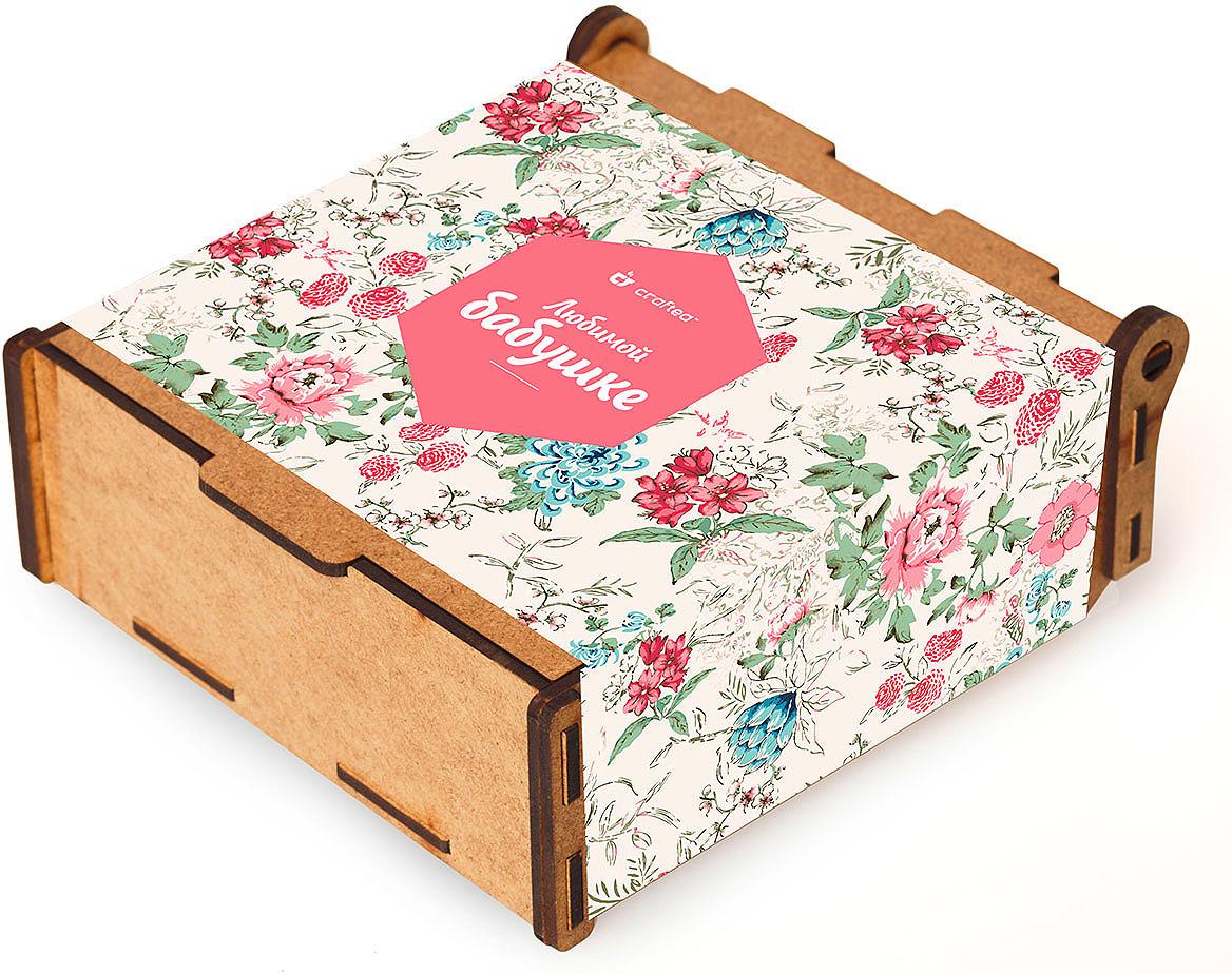 Подарочный чайный набор CrafTea Любимой бабушке, в деревянной шкатулке подарочный чайный набор craftea honey