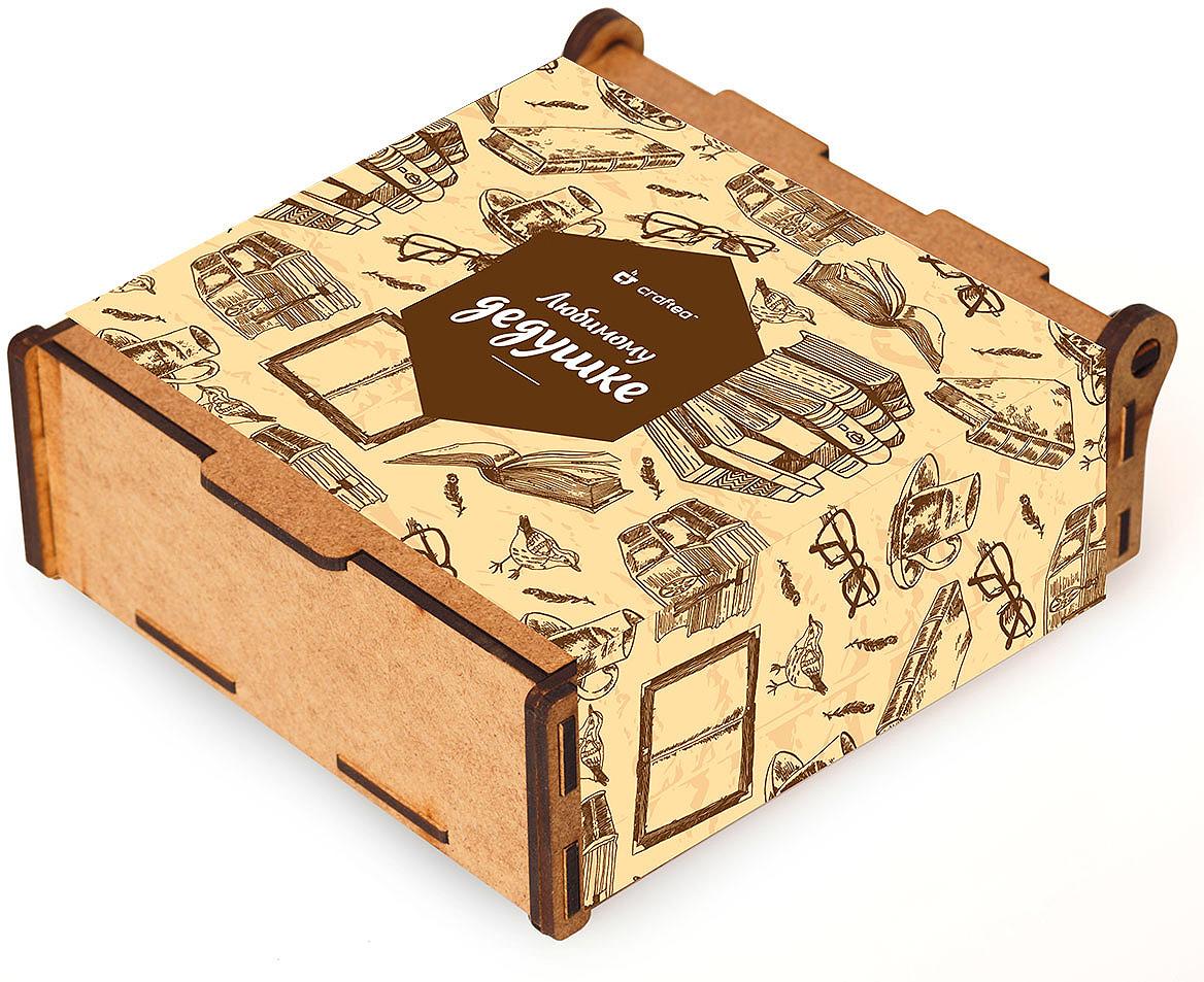 Подарочный чайный набор CrafTea Любимому дедушке, в деревянной шкатулке подарочный чайный набор craftea honey