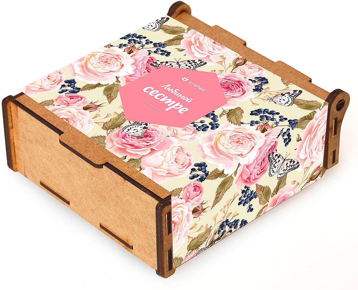 Подарочный чайный набор CrafTea Любимой сестре, в деревянной шкатулке подарочный чайный набор craftea honey