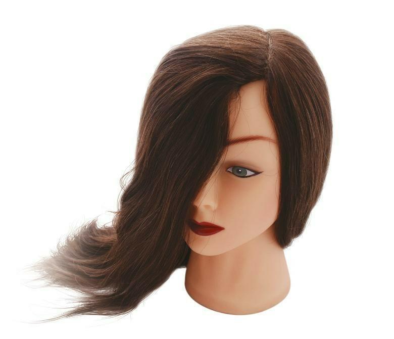 Голова для причесок Dewal M-4151L-6 голова-манекен учебная для стрижки шатенка, натуральные волосы, размер 45-50 см. манекен monica размер 52 бежевый