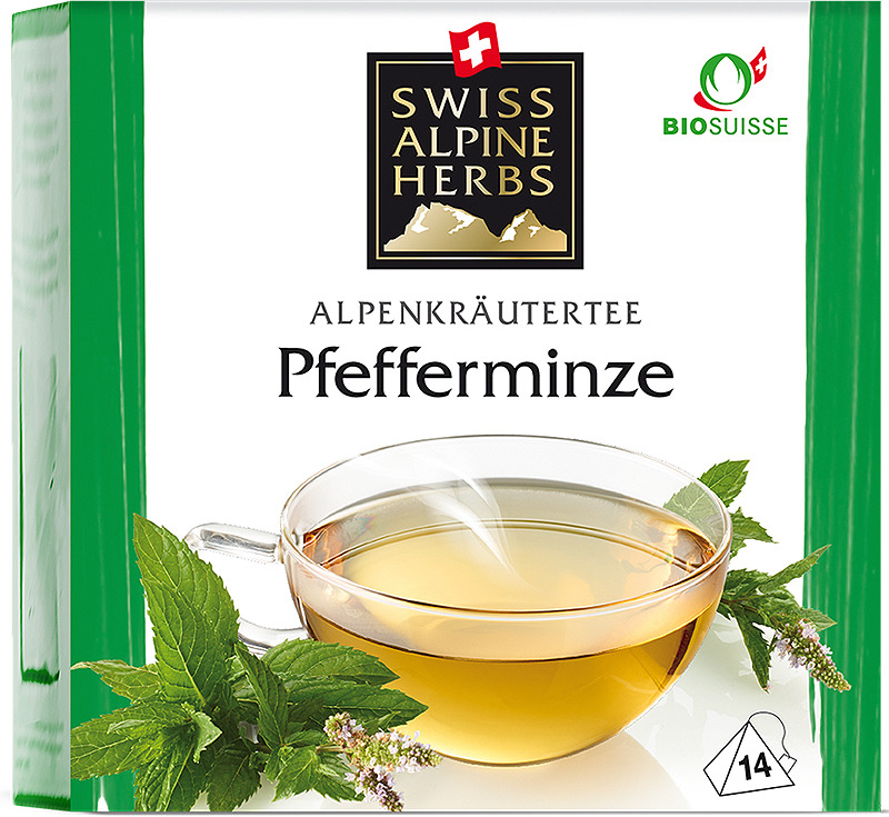 Чай в пирамидках Swiss Alpine Herbs Мята перечная, 14 г swiss alpine herbs смесь специй для барбекю 48 г
