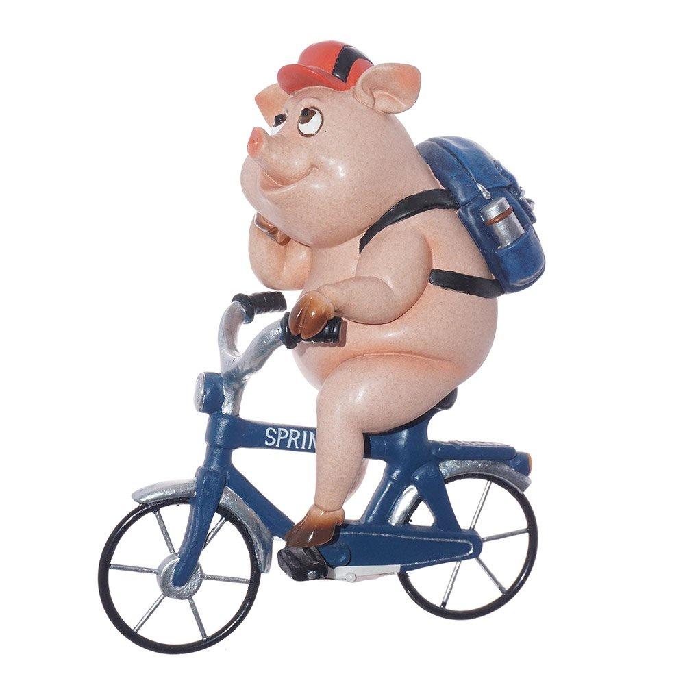 Статуэтка свинка Вело прогулка высота 20смTXRK-719540Статуэтка свинка. Материал: полистоун. Размер: 20*15*10см. Станет оригинальным подарком, на наступающий праздник, как символ года. А её шуточный дизайн подарит улыбку и хорошее настроение.