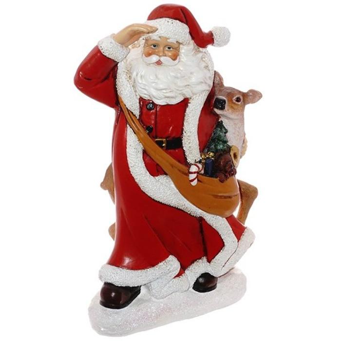 Статуэтка Дед Мороз с оленёнком юлия винклер дед мороз и птичка наклейки