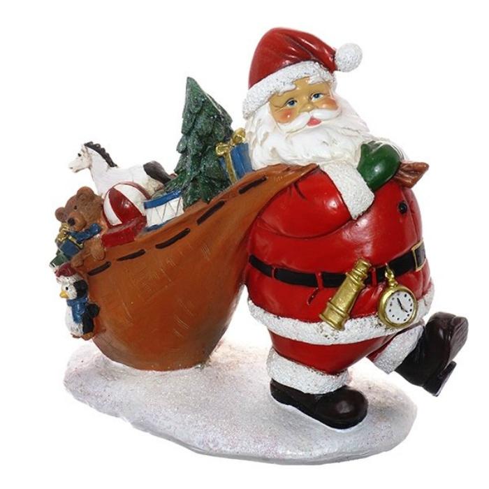 Статуэтка Санта с мешком подарков бампер на кроватку bombus светик зеленый