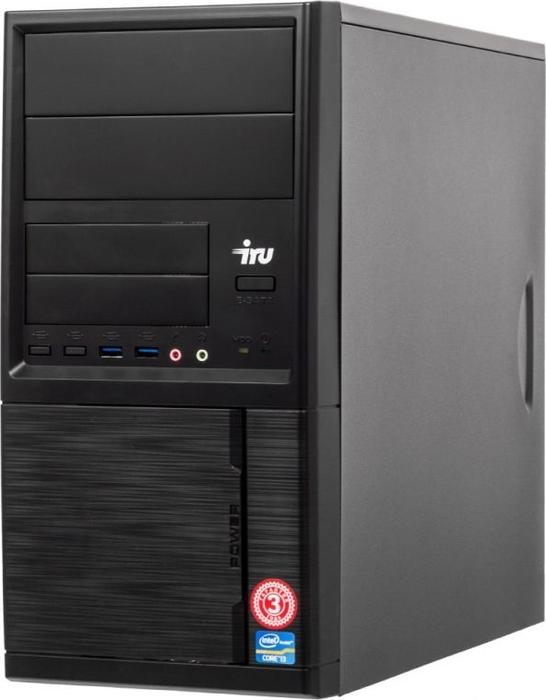 Системный блок iRU Office 313 MT, 1005820, черный системный блок iru home 313 mt 1063317 черный
