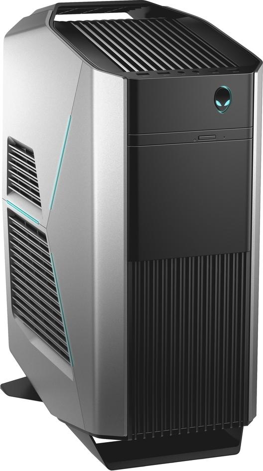 Системный блок Dell Alienware Aurora R7, R7-9928, серебристый системный блок dell alienware aurora r7 9935 mt серебристый