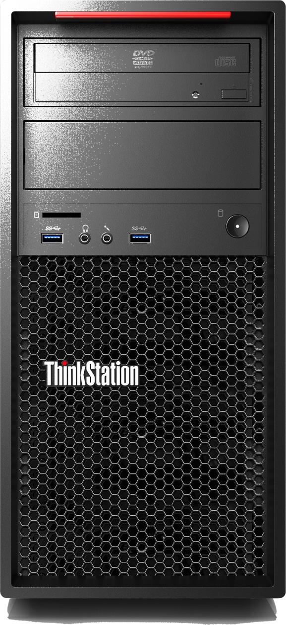 Системный блок Lenovo ThinkStation P320 MT, 30BH004MRU, черный системный блок dell optiplex 3050 sff i3 6100 3 7ghz 4gb 500gb hd620 dvd rw linux клавиатура мышь черный 3050 0405