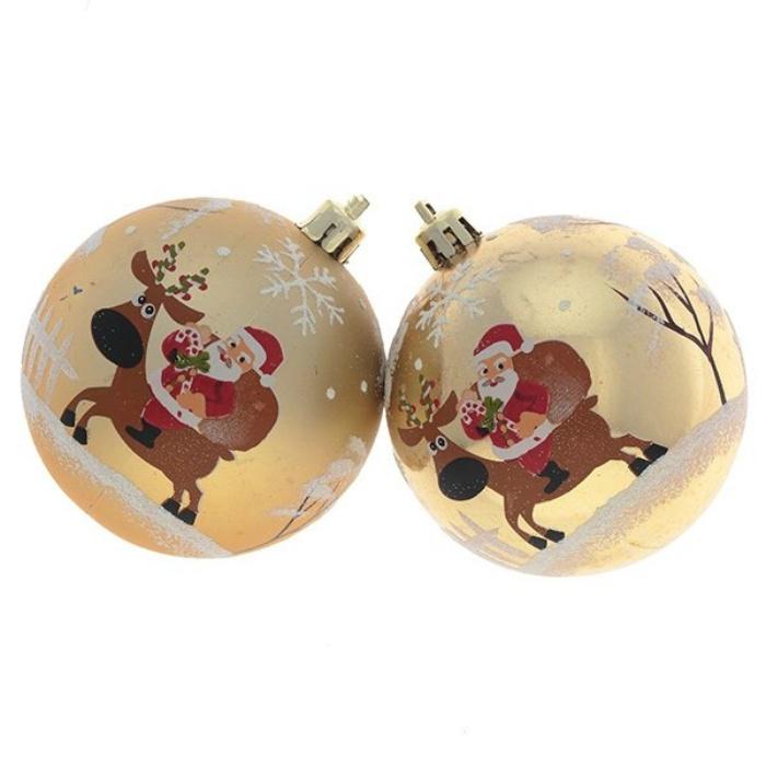 Набор новогодних шаров Дед мороз набор шаров стекло 25мм 24шт кораллово розовый