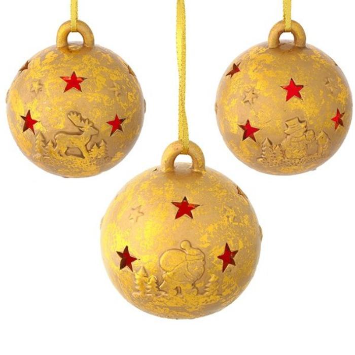 Новогоднее украшение с подсветкой для декорации дома Звёздный шар новогоднее украшение crystal deco шар капля в ассортименте