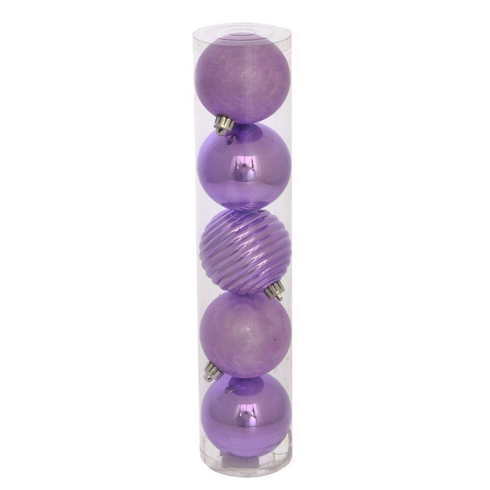 купить Набор из 5 новогодних шаров, D7 см по цене 350 рублей