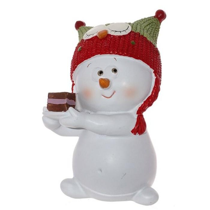 Фото - Фигурка Triumph Xmas Снеговик-сова. Новогодний маскарад, TXRK-238650/сова, высота 12 см фигурки triumph xmas свинки крутые ребята txrk 719514 высота 8 см 2 шт