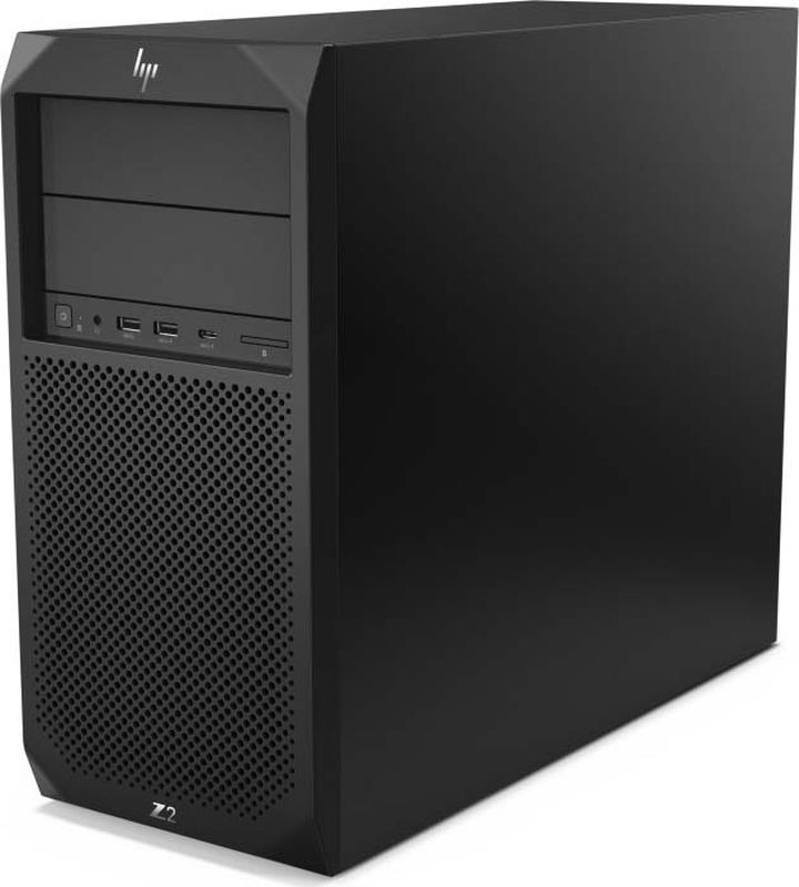 Системный блок HP Z2 G4 TWR, черный системный блок hp elitedesk 800 g4 sff core i5 8500 3 0ghz 8gb ddr4 2666 1 1tb 7200 dvdrw usb kbd mouse vga 3y win10pro 4kw28ea