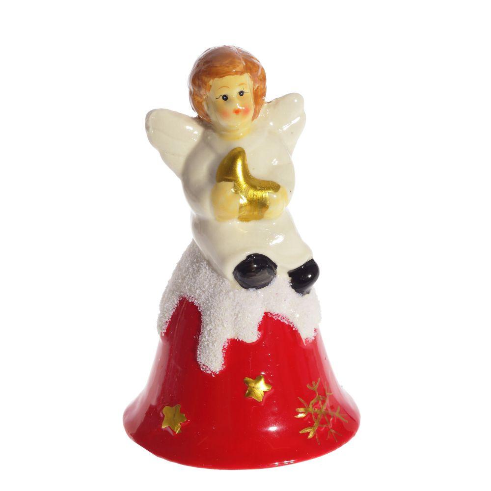 Колокольчик-сувенир ангел Triumph Xmas Рождественская луна, TXRK-236501, 12 см сувенир 48