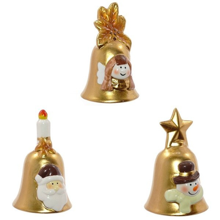 Колокольчик-сувенир Triumph Xmas Новогоднее трио, TXRK-236519, 10 см, 3шт сувенир колокольчик