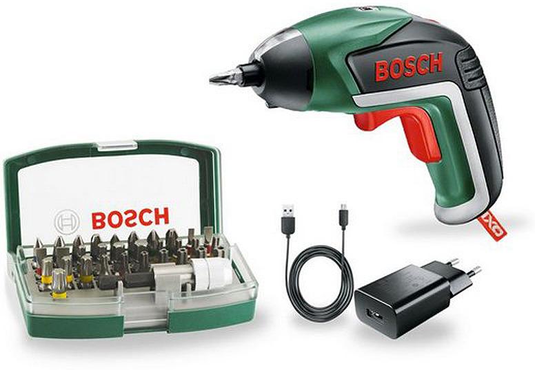 Дрель-шуруповерт Bosch IXO V, 06039A800S, с битами, черный, зеленый аккумуляторная отвертка bosch ixo v bit set 06039a800s