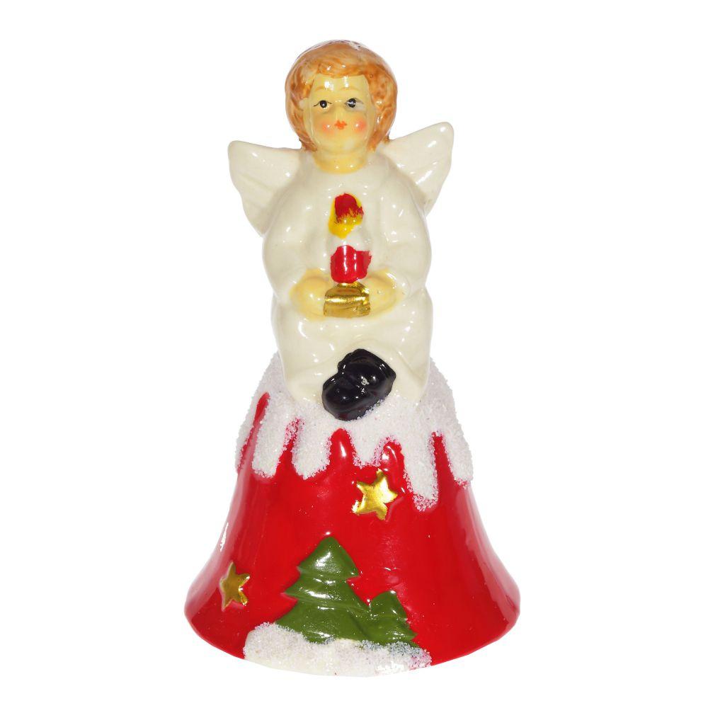 Колокольчик-сувенир Triumph Xmas Ангелочек со свечой, TXRK-236501/свеча сувенир 48
