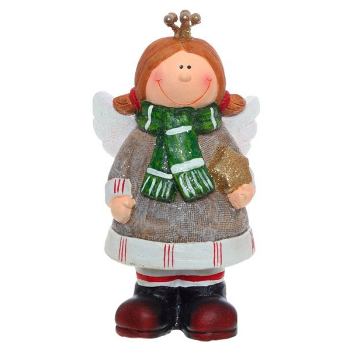 """Статуэтка Новогодний ангелTXRK-234763/зеленыйСтатуэтка """"Новогодний ангел"""""""