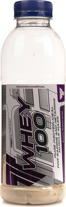 Протеин сывороточный Trec Nutrition Whey 100, клубника, 30 г сывороточный протеин bbb whey classic шоколад 70% белка и bcaa 1 кг