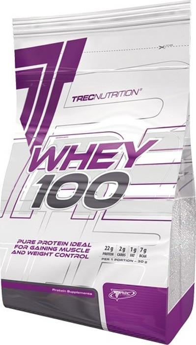 Протеин сывороточный Trec Nutrition Whey 100, клубника, 2.275 кг сывороточный протеин bbb whey classic шоколад 70% белка и bcaa 1 кг