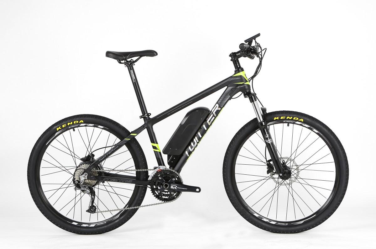 Электровелосипед Twitter MANTIS-E1-17, черно-серый, черный, серый