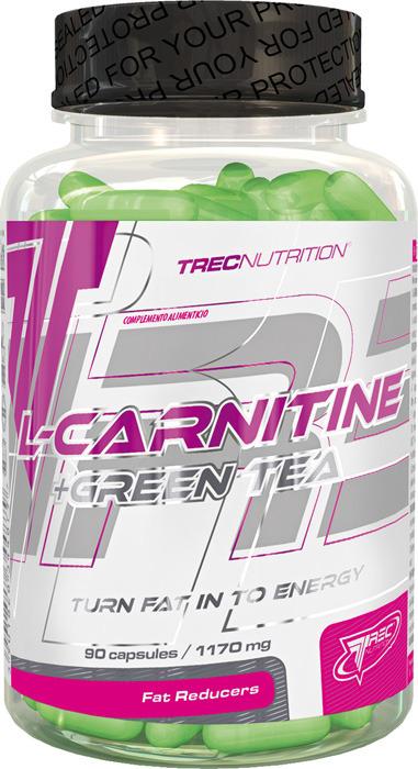L-карнитин Trec Nutrition L-Carnitin + Green Tea, 180 капсул collagen renover trec nutrition