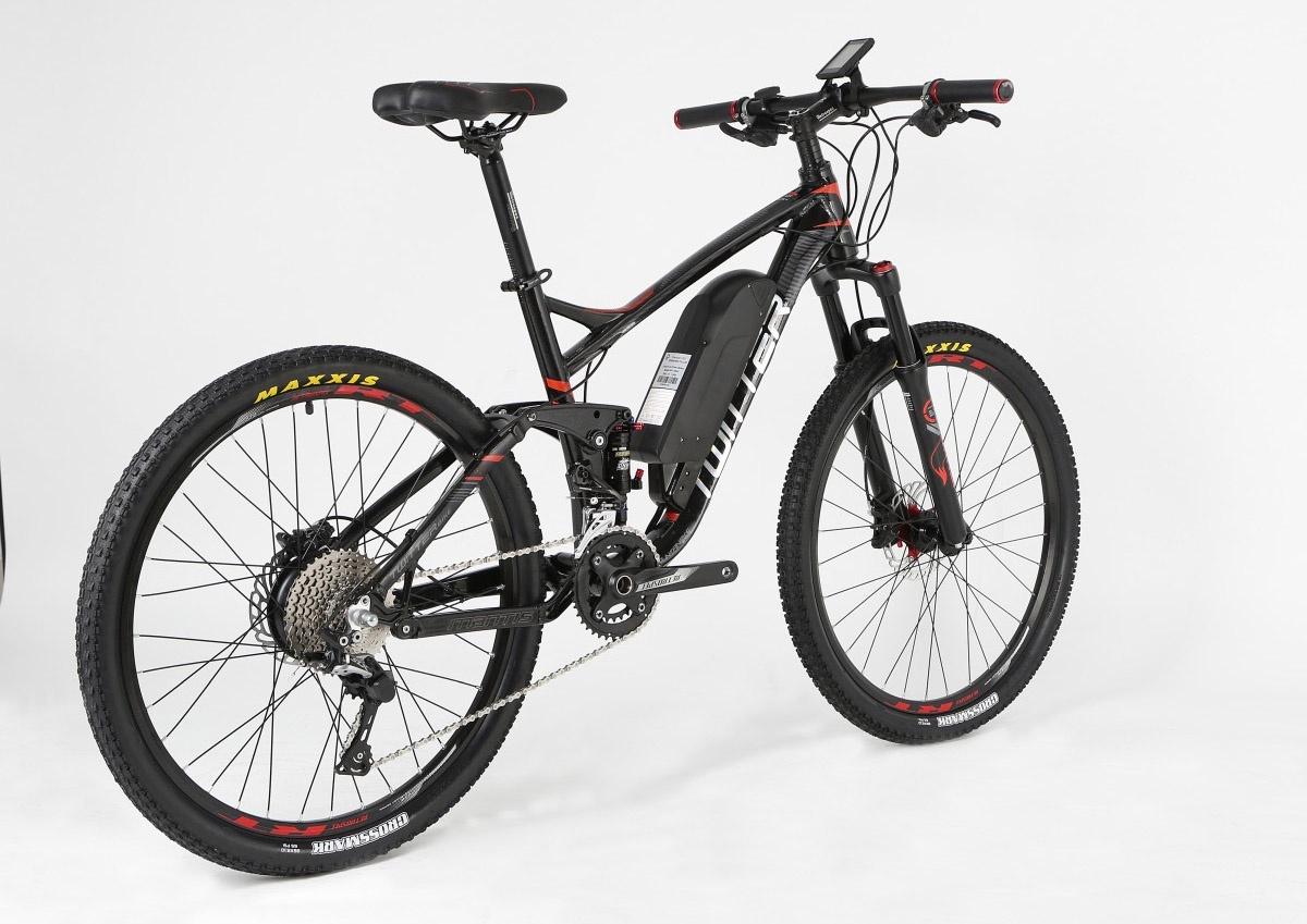 Электровелосипед Twitter, TW-AM26-E1-17, черно-красный