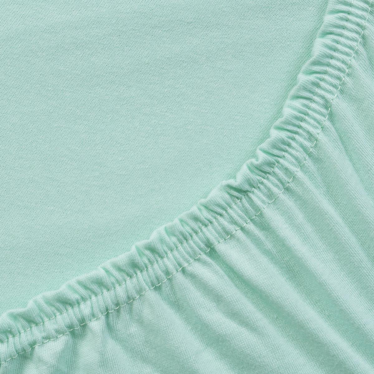 Простыня ТК Традиция Трикотажные простыни, для сна и отдыха, 1443/Мятный, светло-зеленый