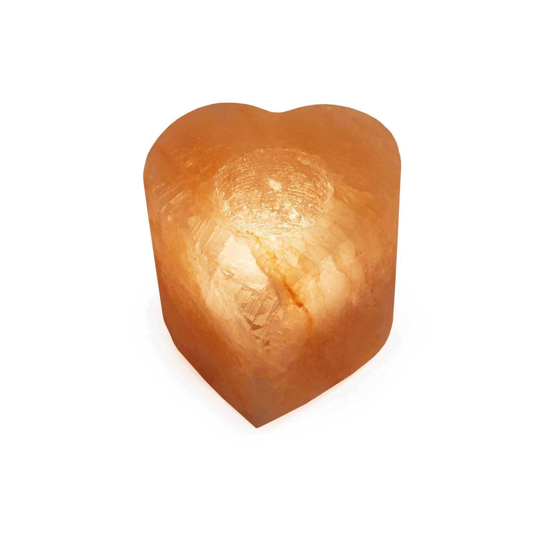 Декоративный светильник Stay Gold Соляной (солевой) Подсвечник Сердце подсвечник декоративный без свечи золотая осень d 7см min6 стекло упаковка шоу бокс