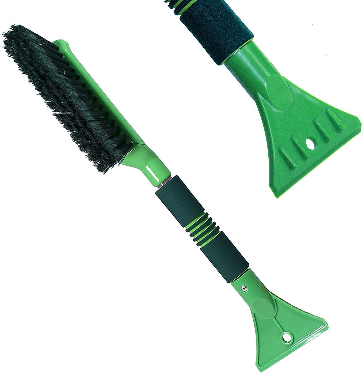 Щетка для снега cо скребком Li-Sa LS201, 39894, салатовый, зеленый, длина 42 см