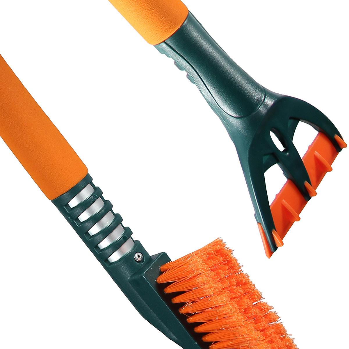 Щетка для снега cо скребком Li-Sa LS212, 44385, оранжевый, зеленый, длина 91. 5 см