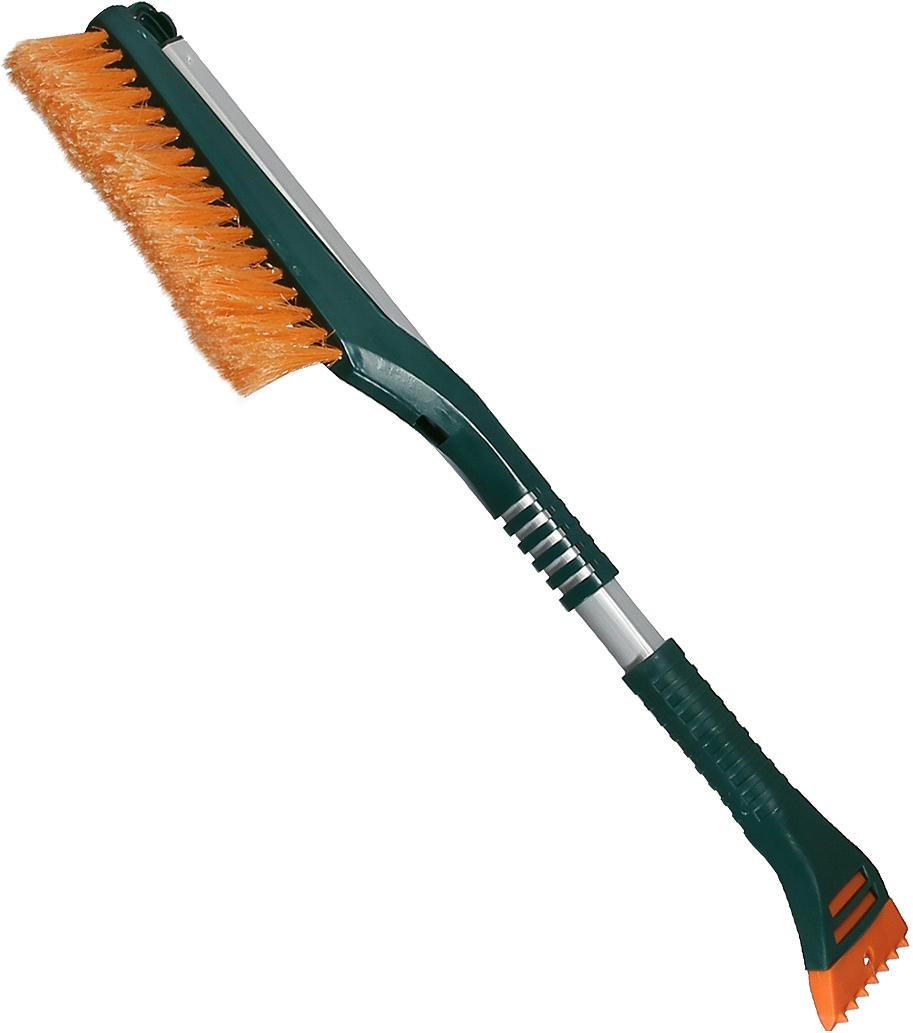 Щетка для снега cо скребком Li-Sa LS213, раздвижная, 44387, оранжевый, зеленый, длина 64-89 см