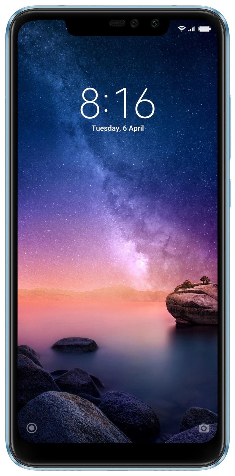 Смартфон Xiaomi Redmi Note 6 Pro 64 GB, синий смартфон xiaomi mi max 3 black 8 core 1 8ghz 4gb 64gb 6 9