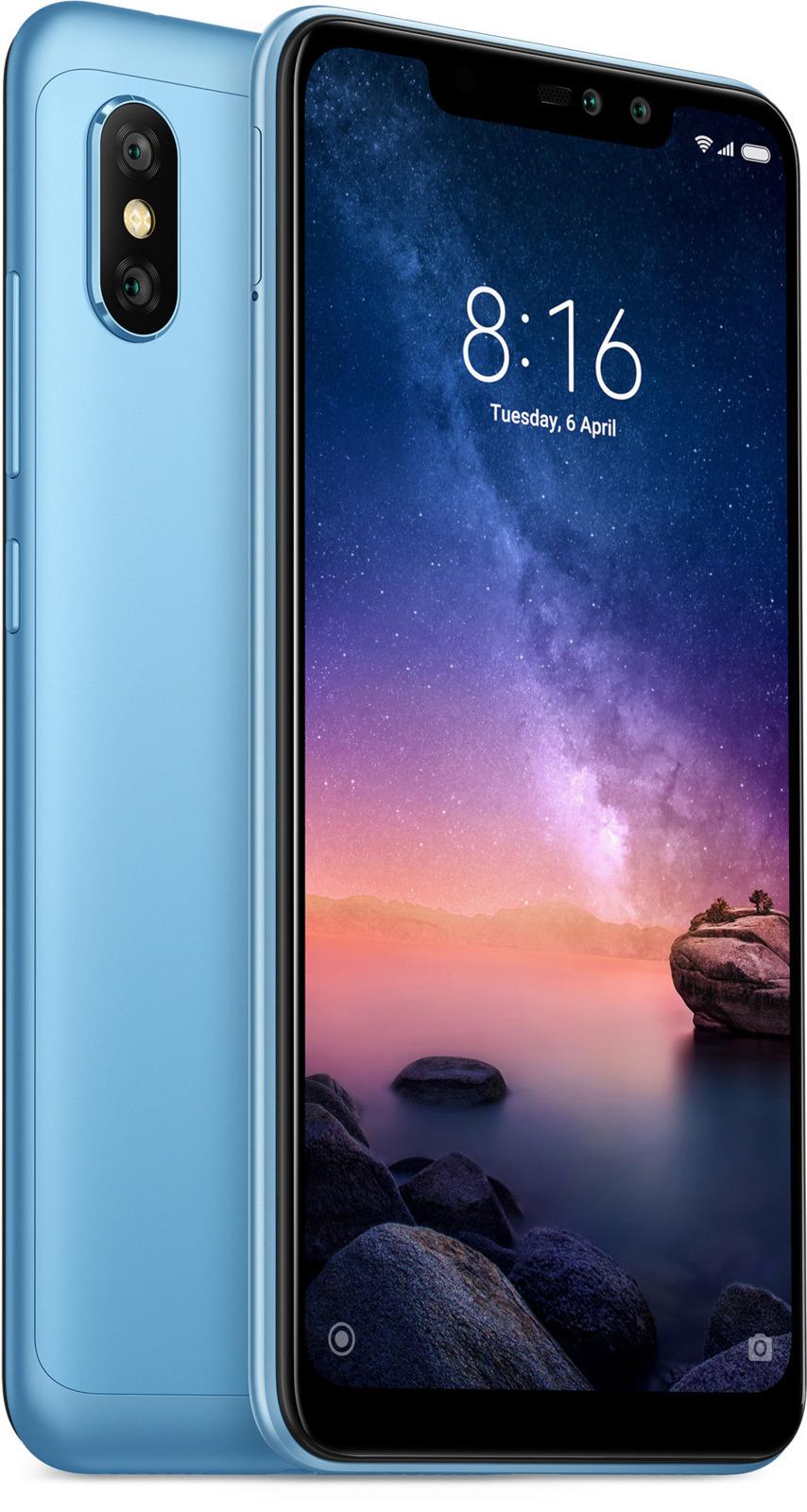 Смартфон Xiaomi Redmi Note 6 Pro 4/64GB, синий цена и фото