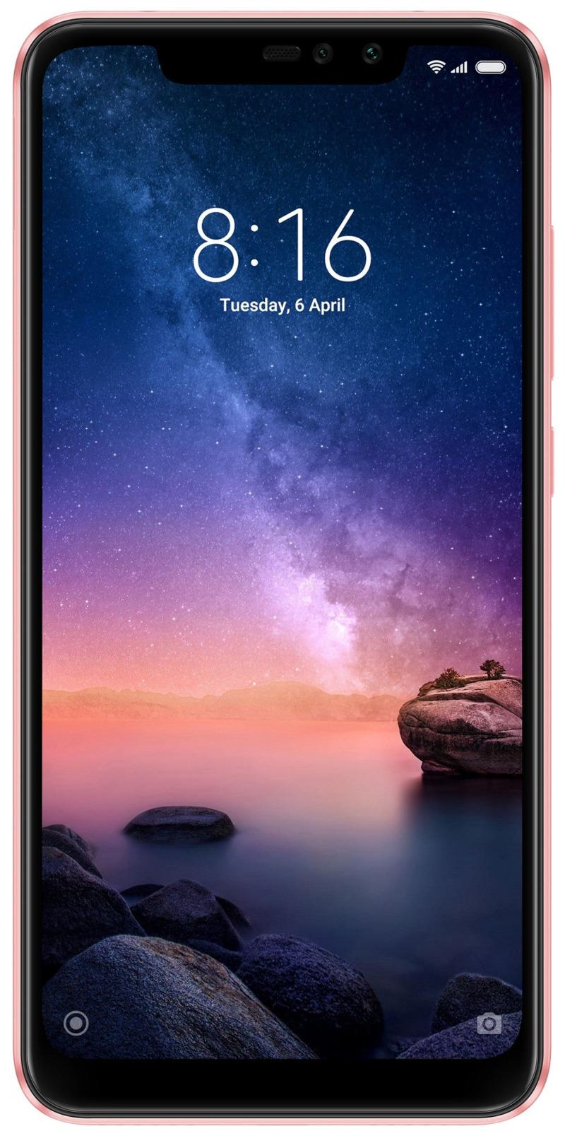 Смартфон Xiaomi Redmi Note 6 Pro 4/64GB pink gold смартфон xiaomi redmi note 6 pro 64 гб розовое золото m1806e7tg