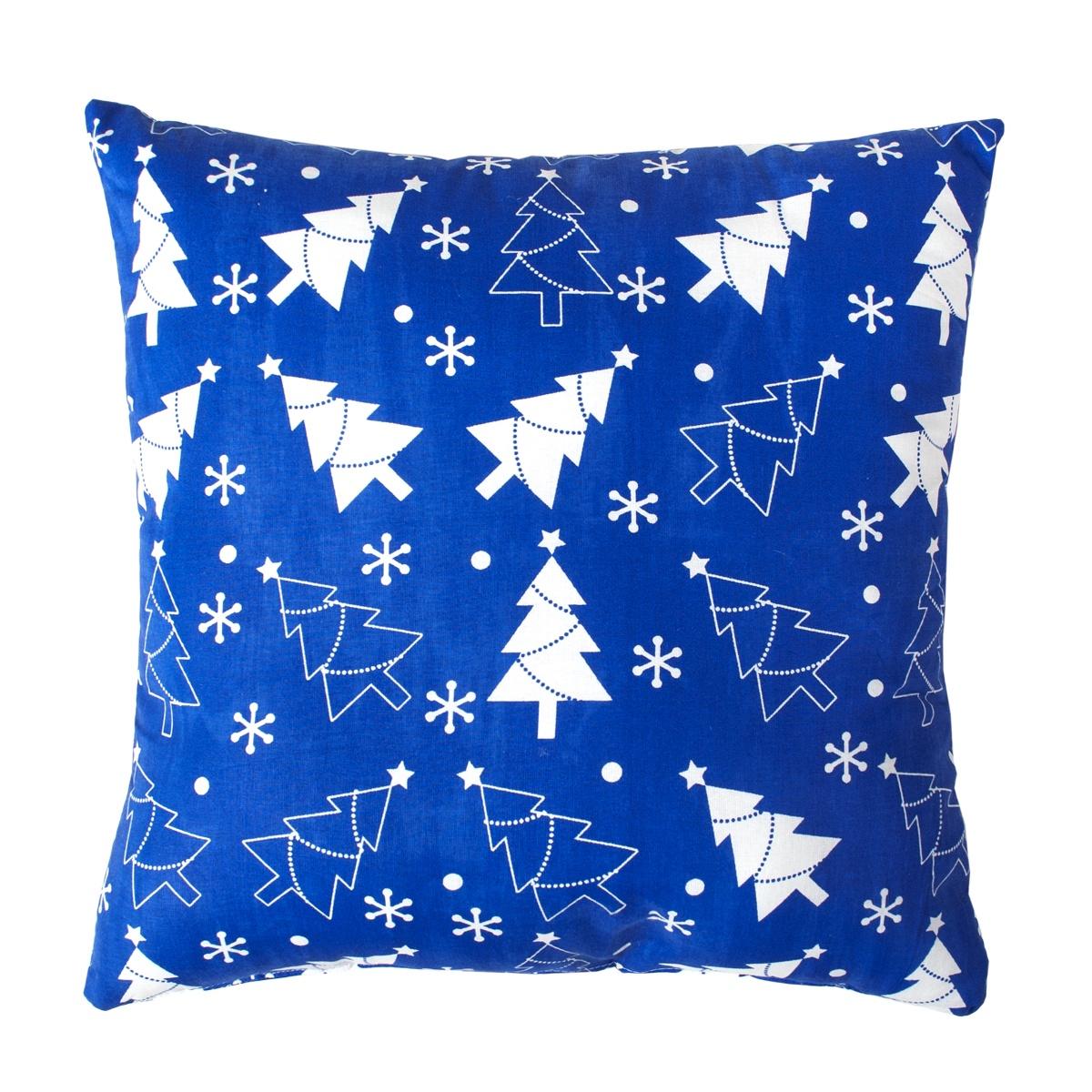 Подушка декоративная Традиция Новый год 2059, синий, 40x40 см цена